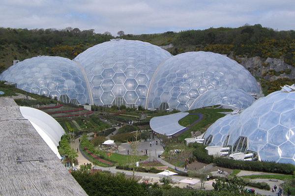 史无前例的英国伊甸园工程,在巨大的多穹隆温室里,种着来自全球各地的植物。从古罗马皇帝的木箱到现代的伊甸园,温室发展的过程漫长而卓越。图:Wiki Commons